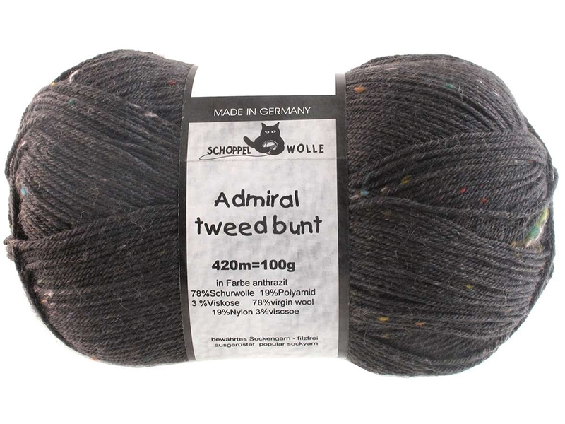 Admiral Tweed Farbe 8805 Anthrazit